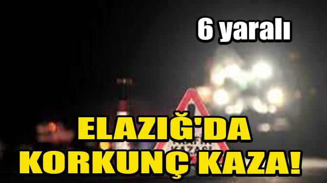 ELAZIĞ'DA KORKUNÇ KAZA! 6 YARALI