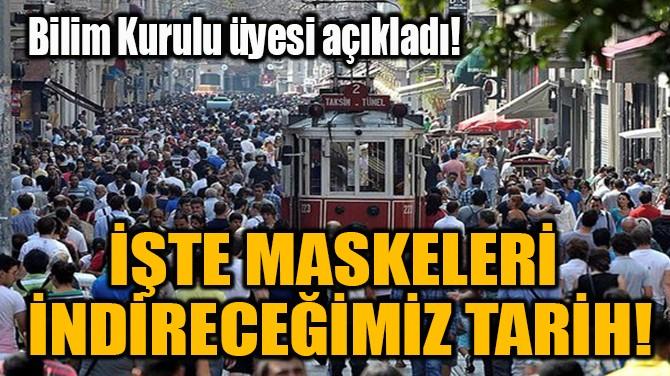 İŞTE MASKELERİ  İNDİRECEĞİMİZ TARİH!