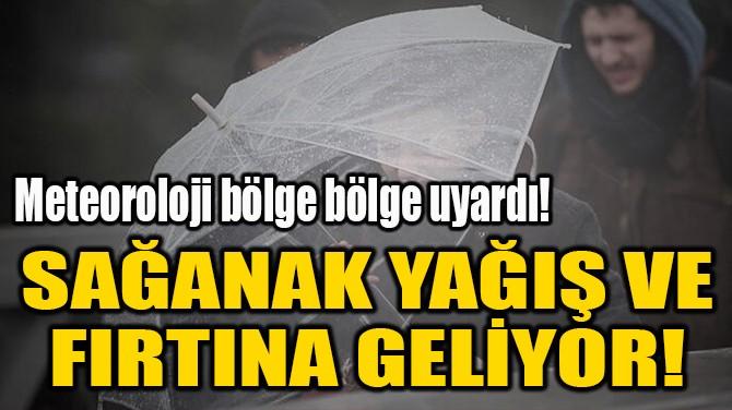 SAĞANAK YAĞIŞ VE  FIRTINA GELİYOR!