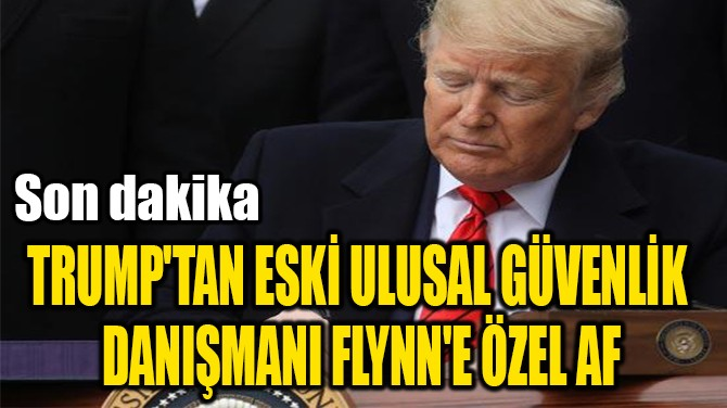 TRUMP'TAN ESKİ ULUSAL GÜVENLİK  DANIŞMANI FLYNN'E ÖZEL AF