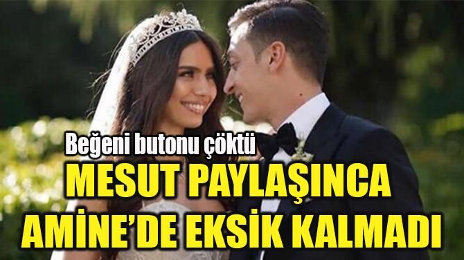 MESUT PAYLAŞINCA  AMİNE'DE EKSİK KALMADI