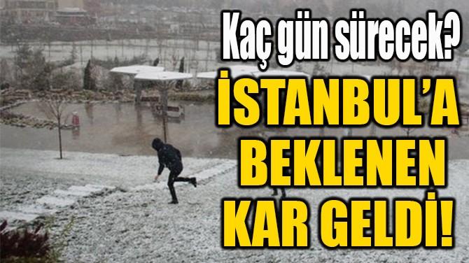 İSTANBUL'A  BEKLENEN KAR GELDİ!