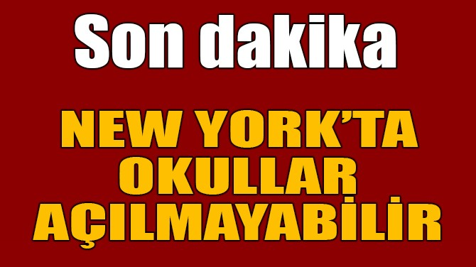 NEW YORK'TA OKULLAR CORONA NEDENİYLE TEKRAR AÇILMAYABİLİR