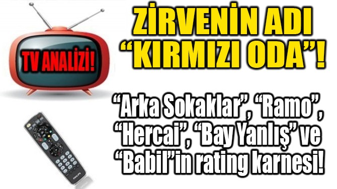 "ZİRVENİN ADI ""KIRMIZI ODA""!"