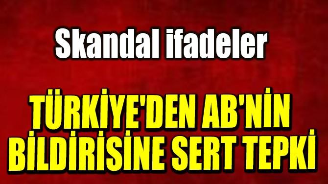 TÜRKİYE'DEN AB'NİN BİLDİRİSİNE SERT TEPKİ