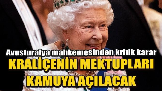 """KRALİÇE ELIZABETH'İN """"GİZLİ SARAY"""" MEKTUPLARI KAMUYA AÇILACAK!"""
