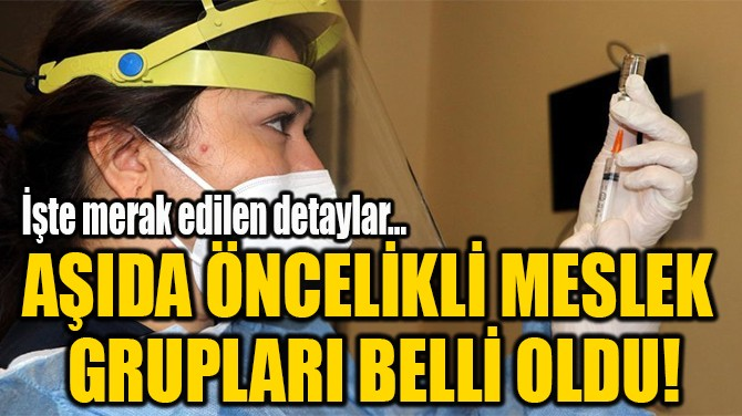 AŞIDA ÖNCELİKLİ MESLEK  GRUPLARI BELLİ OLDU!