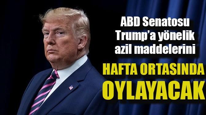 TRUMP'A YÖNELİK AZİL MADDELERİ HAFTA ORTASINDA OYLANACAK