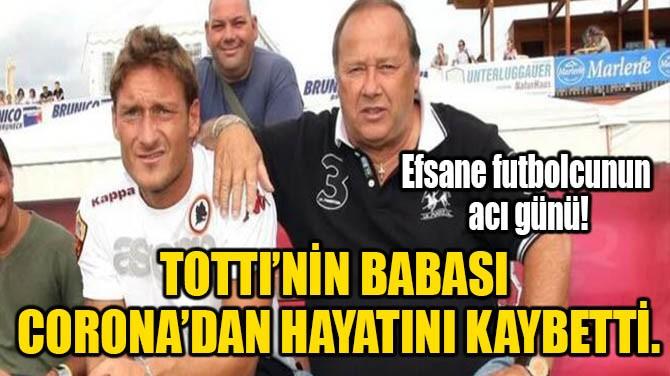 TOTTI'NİN BABASI CORONA'DAN HAYATINI KAYBETTİ.