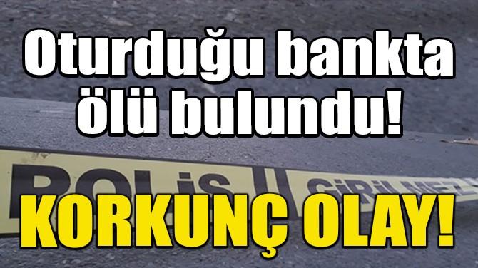 KORKUNÇ OLAY! OTURDUĞU BANKTA ÖLÜ BULUNDU