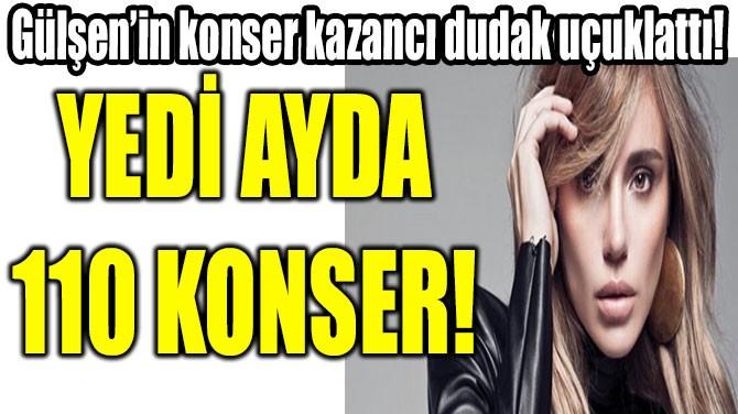 GÜLŞEN'İN KONSER KAZANCI DUDAK UÇUKLATTI!