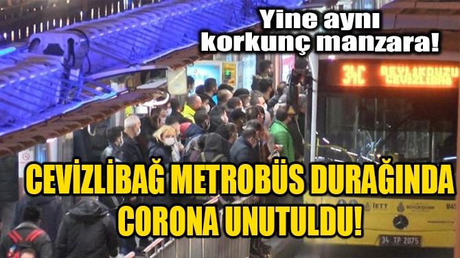 CEVİZLİBAĞ METROBÜS DURAĞINDA CORONA UNUTULDU!