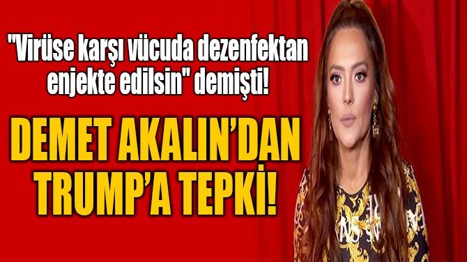 DEMET AKALIN'DAN TRUMP'A TEPKİ!