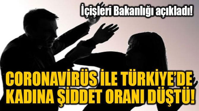 CORONAVİRÜS İLE TÜRKİYE'DE  KADINA ŞİDDET ORANI DÜŞTÜ!