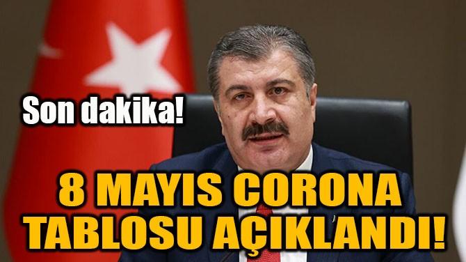 8 MAYIS CORONA TABLOSU PAYLAŞILDI!