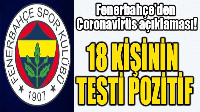 FENERBAHÇE'DEN  CORONAVİRÜS AÇIKLAMASI!