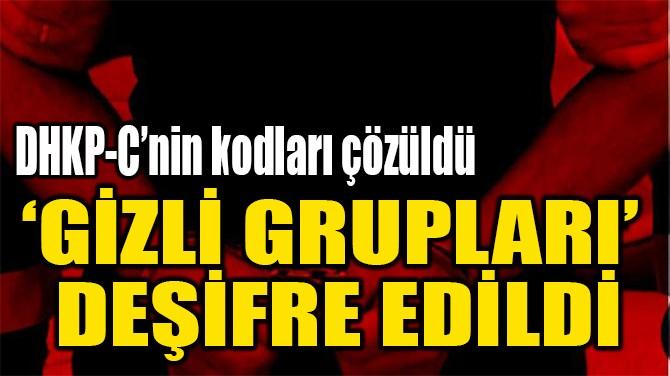 'GİZLİ GRUPLARI'  DEŞİFRE EDİLDİ
