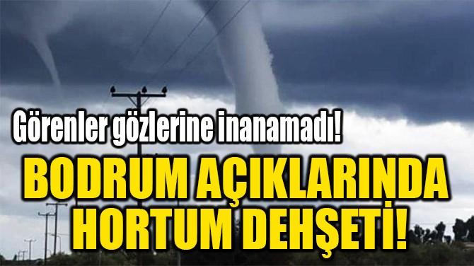 BODRUM AÇIKLARINDA  HORTUM DEHŞETİ!