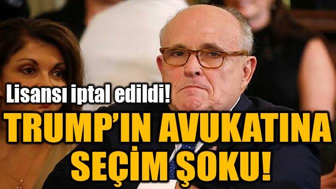 TRUMP'IN AVUKATINA  SEÇİM ŞOKU!