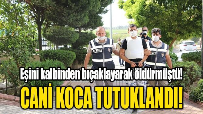 CANİ KOCA TUTUKLANDI!