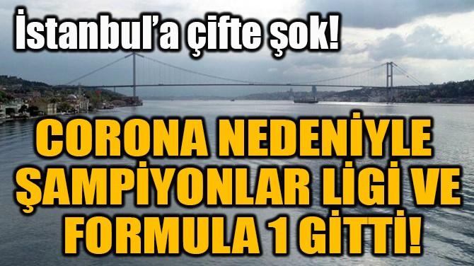 CORONA NEDENİYLE  ŞAMPİYONLAR LİGİ VE  FORMULA 1 GİTTİ!