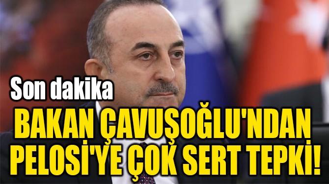 BAKAN ÇAVUŞOĞLU'NDAN  PELOSİ'YE ÇOK SERT TEPKİ!