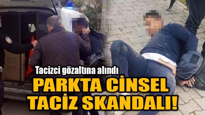 PARKTA CİNSEL TACİZ SKANDALI!