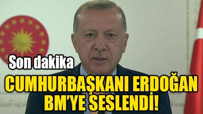 CUMHURBAŞKANI ERDOĞAN  BM'YE SESLENDİ!