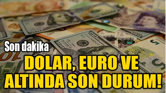DOLAR, EURO VE  ALTINDA SON DURUM!