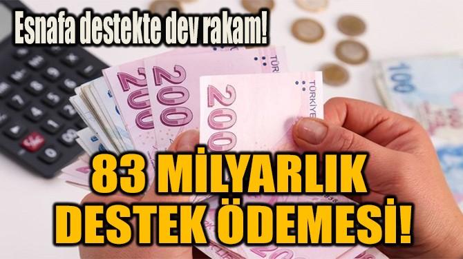 83 MİLYARLIK  DESTEK ÖDEMESİ!