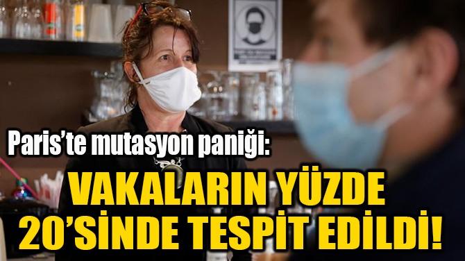 VAKALARIN YÜZDE  20'SİNDE TESPİT EDİLDİ!