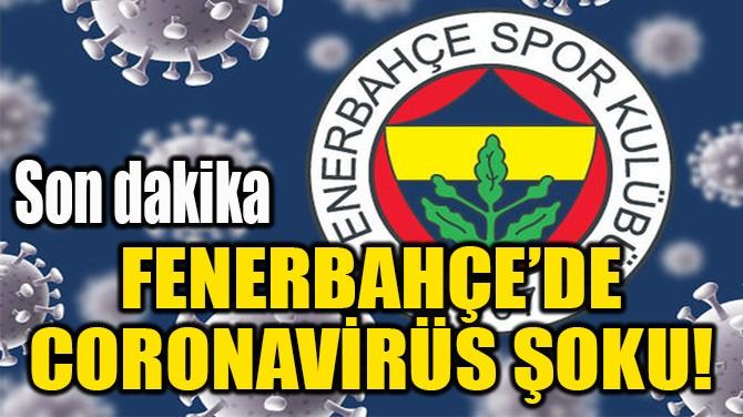 FENERBAHÇE'DE CORONAVİRÜS ŞOKU!