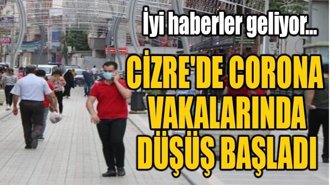 CİZRE'DE CORONA  VAKALARINDA  DÜŞÜŞ BAŞLADI