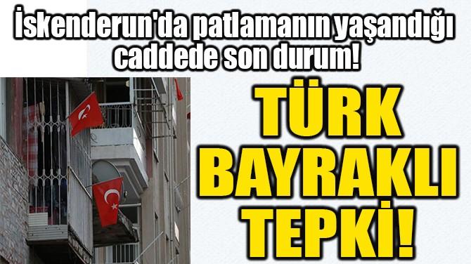 TÜRK  BAYRAKLI  TEPKİ!