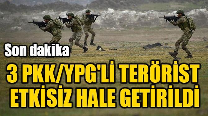 3 PKK/YPG'Lİ TERÖRİST  ETKİSİZ HALE GETİRİLDİ