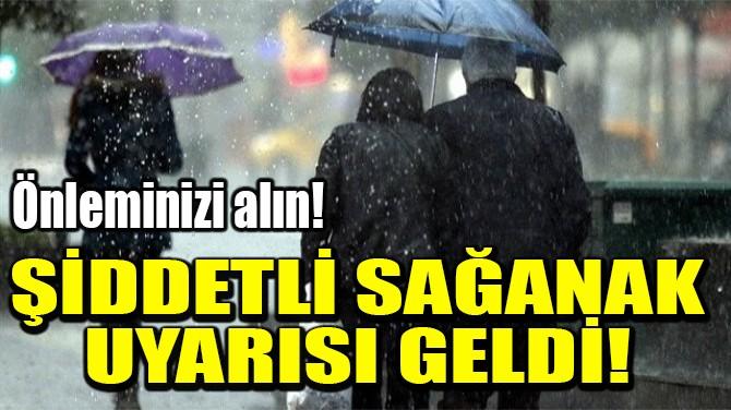 ŞİDDETLİ SAĞANAK  UYARISI GELDİ!