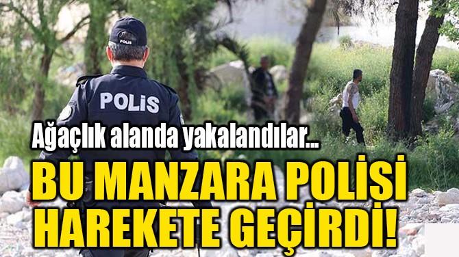 BU MANZARA POLİSİ HAREKETE GEÇİRDİ!