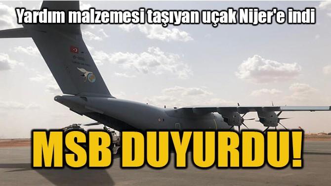 MSB DUYURDU!