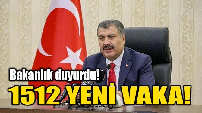 1.512 YENİ VAKA TESTİP EDİLDİ