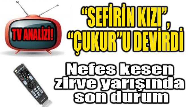 """RATINGLER BELLİ OLDU! """"SEFİRİN KIZI"""", """"ÇUKUR""""U DEVİRDİ!"""