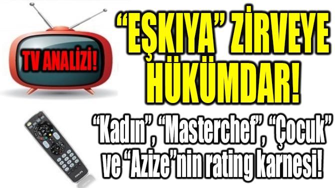"""RATINGLER BELLİ OLDU! """"EŞKIYA"""" ZİRVEYE HÜKÜMDAR!"""