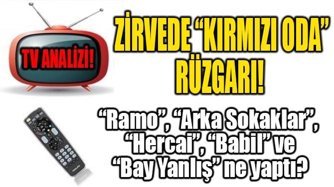 "ZİRVEDE ""KIRMIZI ODA"" RÜZGARI!"