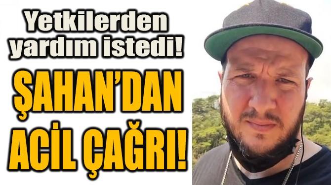 ŞAHAN'DAN ACİL ÇAĞRI!