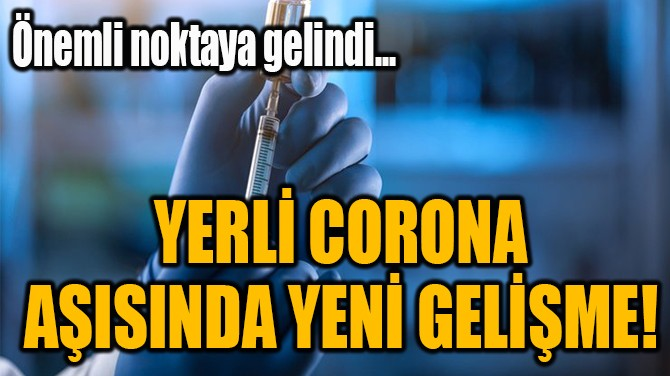 YERLİ CORONA  AŞISINDA YENİ GELİŞME!