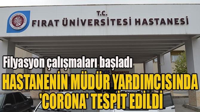 HASTANENİN MÜDÜR YARDIMCISINDA  'CORONAVİRÜS' TESPİT EDİLDİ