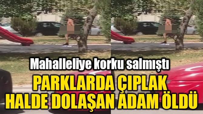PARKLARDA ÇIPLAK  HALDE DOLAŞAN ADAM ÖLDÜ