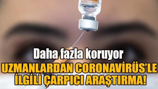 UZMANLARDAN CORONAVİRÜS'LE  İLGİLİ ÇARPICI ARAŞTIRMA!