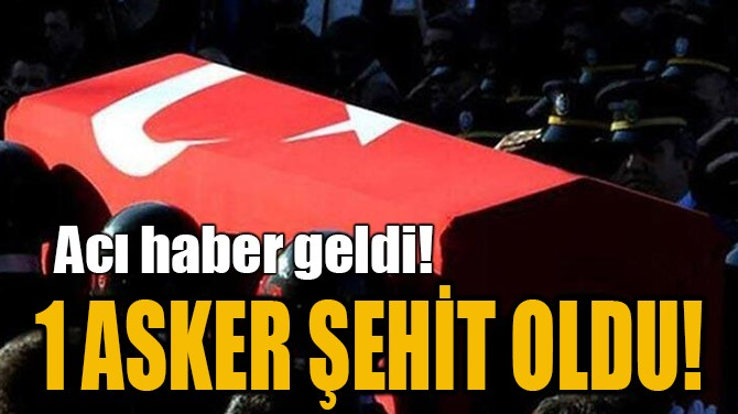 1 ASKER ŞEHİT OLDU!