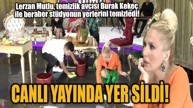 CANLI YAYINDA YER SİLDİ!