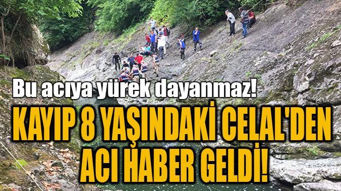 KAYIP 8 YAŞINDAKİ CELAL'DEN  ACI HABER GELDİ!